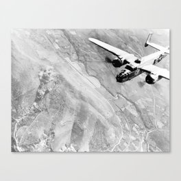 B-25 Bomber Over Germany Canvas Print