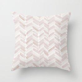 Neutral Blush Chevron Throw Pillow