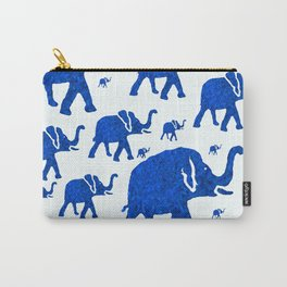 ELEPHANT BLUE MARCH Carry-All Pouch