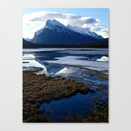 Rundle Mountain Reflections Canvas Print