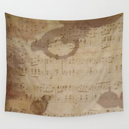 1798 European Ephemera Antique Sheet Music Wall Tapestry