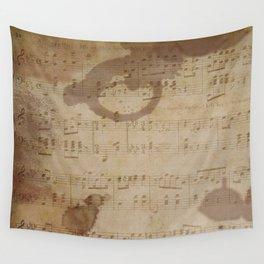 1798 European Ephemera Antique Sheet Music Wall Tapestry