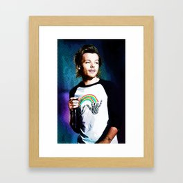 Louis Tomlinson With Color Halftone Framed Art Print