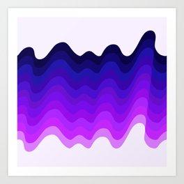Retro Ripple in Purples Art Print