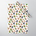 Christmas goats in sweaters repeating seamless pattern by maysoulrose