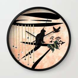 In to the Light Wall Clock