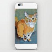 garfield iPhone & iPod Skins featuring Garfield by Suzanna Schlemm