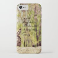 jane eyre iPhone & iPod Cases featuring I Am No Bird Jane Eyre Charlotte Bronte Quote by KimberosePhotography
