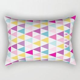 girlly bright triangles Rectangular Pillow
