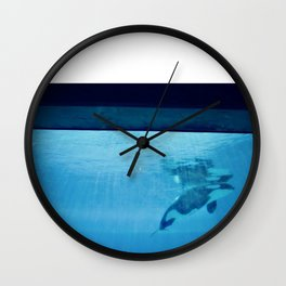 Orca Of The Ocean Wall Clock