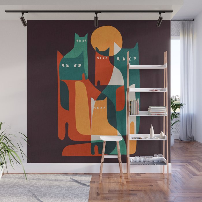 Cat Family Wall Mural