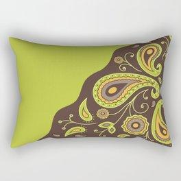 Paisley Green Pattern Rectangular Pillow