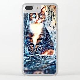 Le Chat d'Alain (cat) by GEN Z Clear iPhone Case
