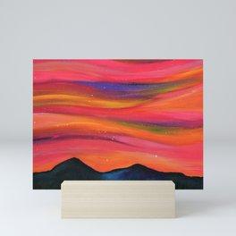 TWILIGHT SKY OVER MOURNE MOUNTAINS Mini Art Print