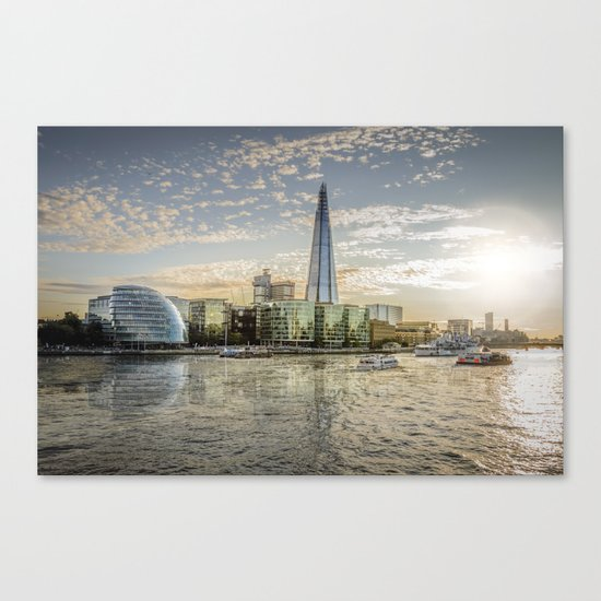 London waterfront Canvas Print