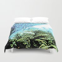 coral Duvet Covers featuring Coral by Stephen Linhart