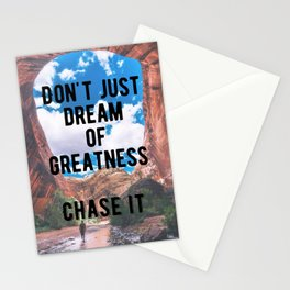 Motivational - Chase Greatness Quote Stationery Cards