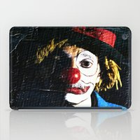 clown iPad Cases featuring clown by laika in cosmos
