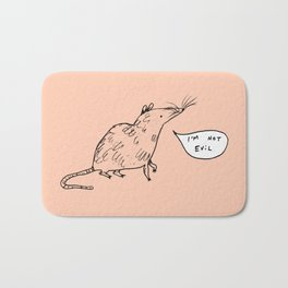 Rats Aren't Evil Bath Mat