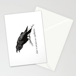 Ceci n'est pas un corbeau. Stationery Cards