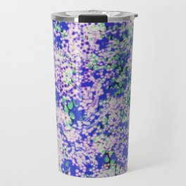 fluffy dots on blue with mint Travel Mug