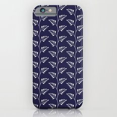 Blue & White Ferns iPhone 6s Slim Case