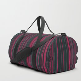 Pink Grey Candy Lines Duffle Bag