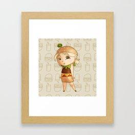 Mini Burger Framed Art Print