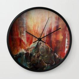 Red Mountain Wall Clock