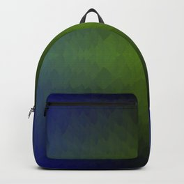 Black Blue Green Ombre Flames Horizon Backpack