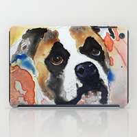 boxer iPad Cases featuring Boxer by Bowles Fine Paintings