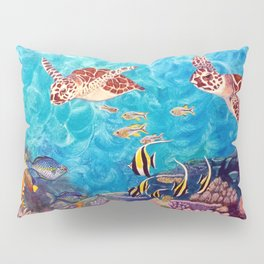 Zach's Seascape - Sea turtles Pillow Sham