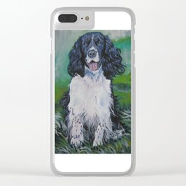 English Springer Spaniel dog art from an original painting by L.A.Shepard Clear iPhone Case