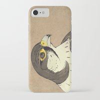 millenium falcon iPhone & iPod Cases featuring Falcon by Lynette Sherrard Illustration and Design