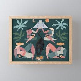 Panther's midnight paradise Framed Mini Art Print