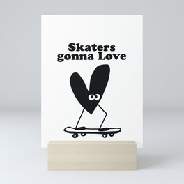 Skaters Gonna Love Black Heart Mini Art Print