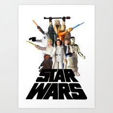 Star War Action Figures Poster Art Print