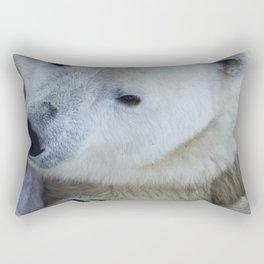 Funny Sleepy Polar bear close-up. Rectangular Pillow