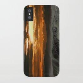 Winter Shorebreak at Sunset iPhone Case