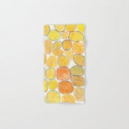 Cheerful orange Gathering Hand & Bath Towel