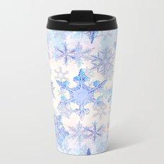 Snowflakes #4 Metal Travel Mug