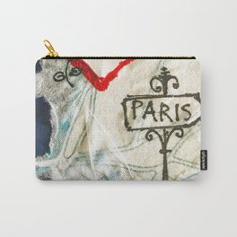 Paris Roadmap of Love Carry-All Pouch
