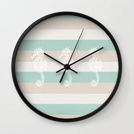 3 seahorses Wall Clock