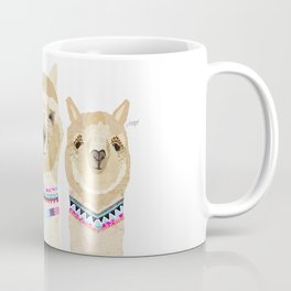 Colorful Alpaca Collage Coffee Mug