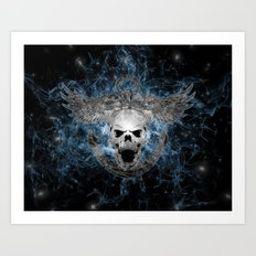 Anchored Skull Art Print