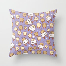Space Toast Throw Pillow