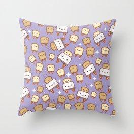 Space Toast Throw Pillow