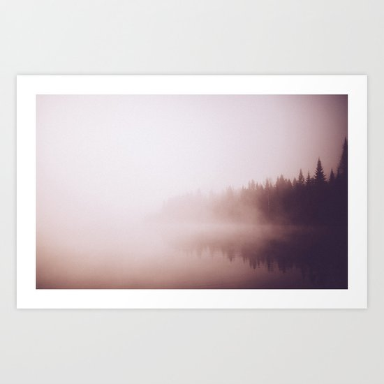 Fog #forest Art Print