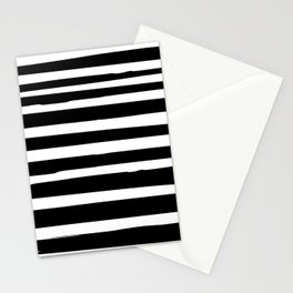 Black and White Stripes Abstract Modern Stationery Cards