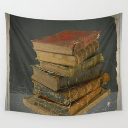 GRUBY SHABBY CHIC ANTIQUE LIBRARY BOOKS Wall Tapestry